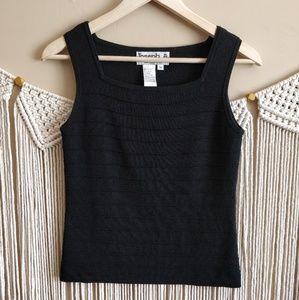 Joseph A. Black Vintage Ribbed Sleeveless Knit Top